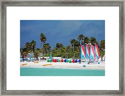 Caribbean, Bahamas, Castaway Cay Framed Print
