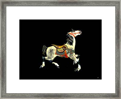 Carousel Horse Framed Print by Charles Shoup