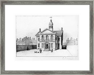 Carpenter's Hall Framed Print by Granger