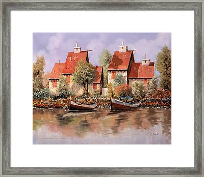 5 Case E 2 Barche Framed Print by Guido Borelli