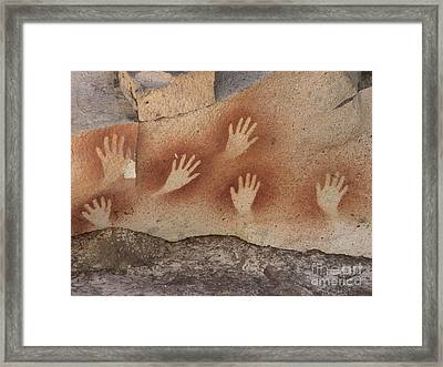 Cave Of The Hands Argentina Framed Print by Javier Trueba MSF SPL