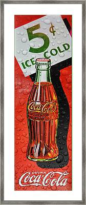 5 Cent Coca-cola From 1886 - 1959 Framed Print