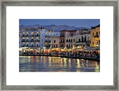 Chania City Framed Print