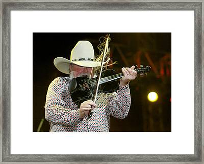 Charlie Daniels Framed Print by Don Olea