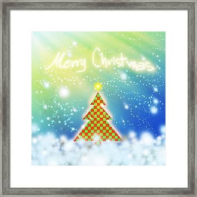 Chess Style Christmas Tree Framed Print by Atiketta Sangasaeng