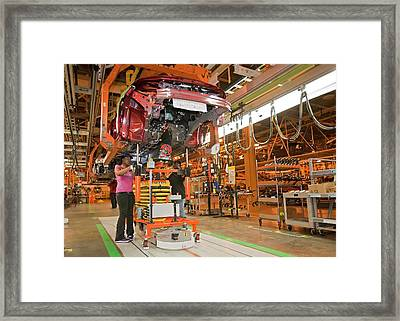 Chevrolet Volt Assembly Line Framed Print