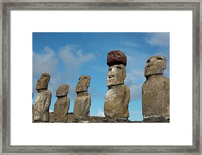 Chile, Easter Island, Hanga Nui Framed Print