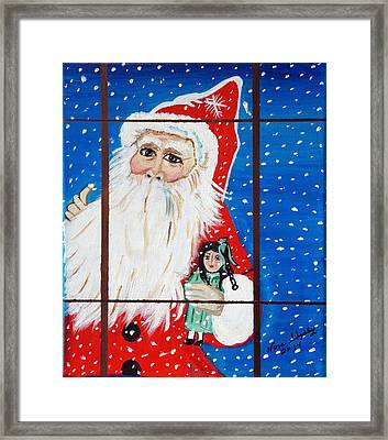 Framed Print featuring the painting Christmas Card by Nora Shepley