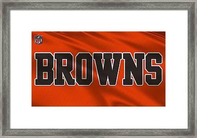 Cleveland Browns Uniform Framed Print