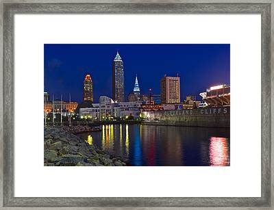 Cleveland Ohio  Framed Print by Frozen in Time Fine Art Photography