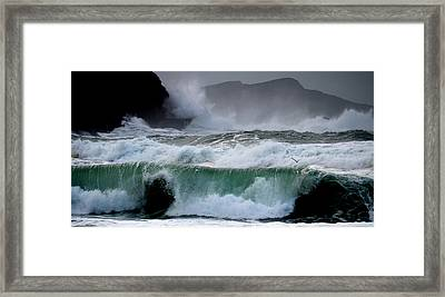 Clogher Waves Framed Print