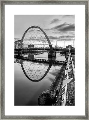Clyde Arc Squinty Bridge Framed Print