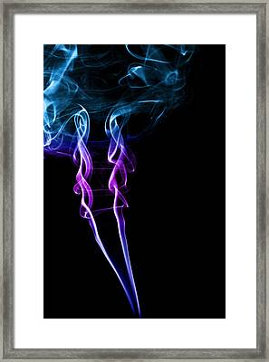 Colourful Smoke Framed Print by Samuel Whitton