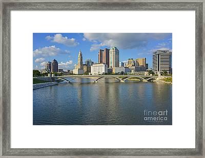 Fx1l-802 Columbus Ohio Skyline Photo Framed Print