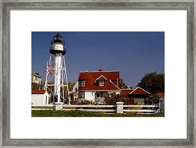 Coney Island Lighthouse Framed Print