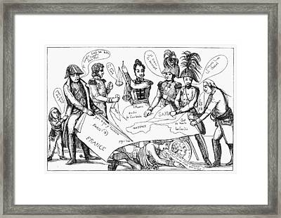 Congress Of Vienna, 1815 Framed Print by Granger