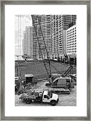 Construction Site-2 Framed Print