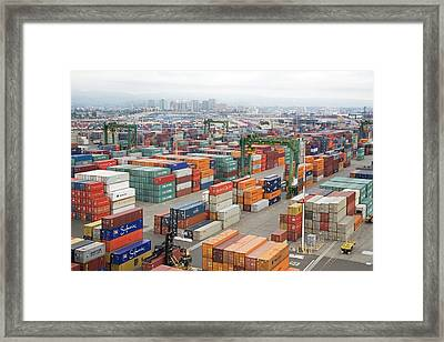 Container Port Framed Print