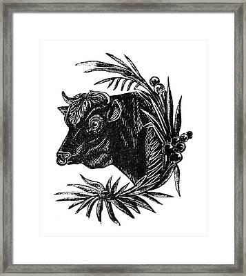 Cow, 19th Century Framed Print by Granger