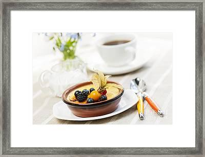 Creme Brulee Dessert Framed Print by Elena Elisseeva