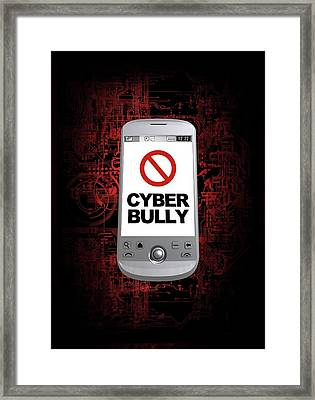 Cyber Bullying Framed Print by Victor Habbick Visions/science Photo Library
