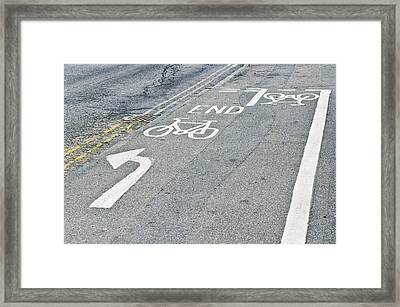 Cycle Path Framed Print by Tom Gowanlock