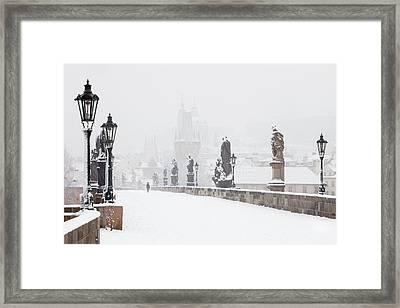 Czech Republic, Prague - Charles Bridge Framed Print