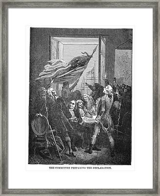 Declaration Of Independence Framed Print