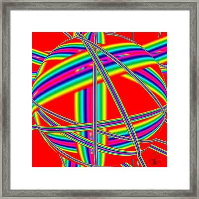 Depression Color Therapy Inside A Rainbow Framed Print by Sir Josef - Social Critic -  Maha Art