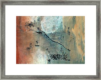 Desert Agriculture Framed Print by Planetobserver/science Photo Library