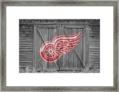 Detroit Red Wings Framed Print by Joe Hamilton