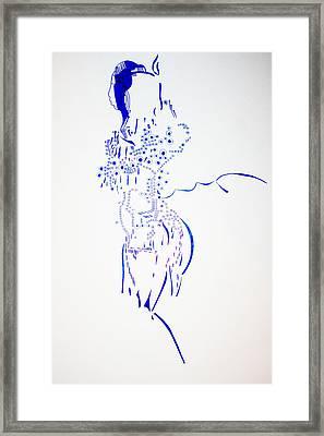 Dinka Corset - South Sudan Framed Print