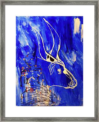 Dinka Livelihood - South Sudan Framed Print by Gloria Ssali
