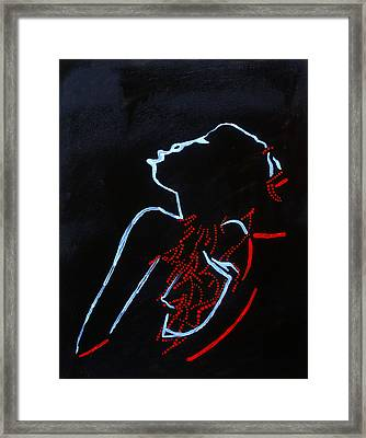 Dinka Silhouette - South Sudan Framed Print by Gloria Ssali