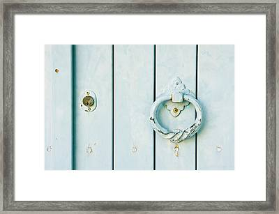 Door Knocker Framed Print by Tom Gowanlock