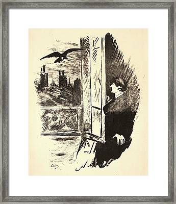 Édouard Manet French, 1832 - 1883. The Raven Le Corbeau Framed Print by Litz Collection