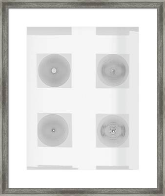 Early Dna Research Framed Print by King's College London Archives
