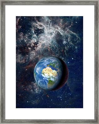 Earth From Space Framed Print by Detlev Van Ravenswaay