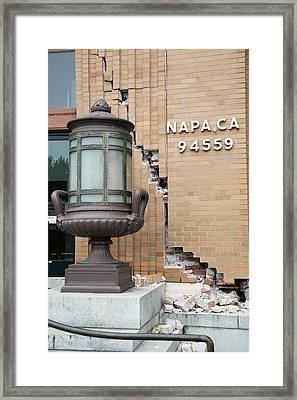 Earthquake Damage Framed Print