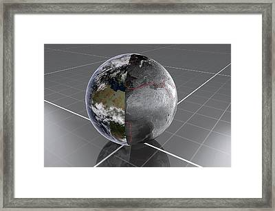Earth's Tectonic Plates Framed Print by Peter Matulavich