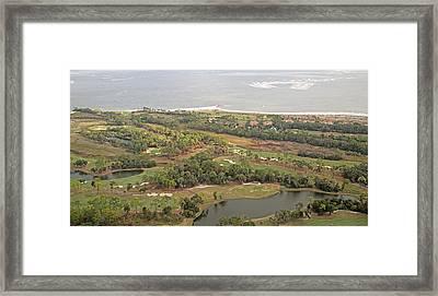 East Coast Aerial Near Jekyll Island Framed Print by Betsy Knapp