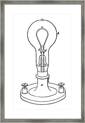 Edison Lamp, 19th Century Framed Print by Granger