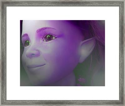 Elves-child Framed Print