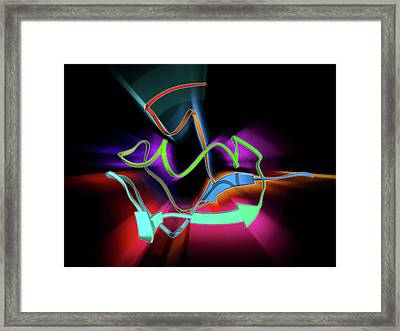 Enzyme Catalysing Dna Recombination Framed Print by Laguna Design