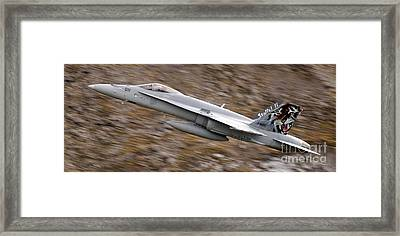 f18 Framed Print by Angel  Tarantella