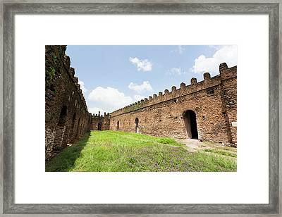Fasil Ghebbi, A Fortress-like Royal Framed Print by Martin Zwick