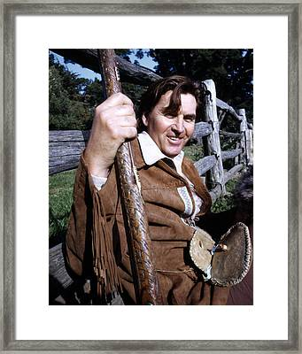 Fess Parker In Daniel Boone  Framed Print by Silver Screen