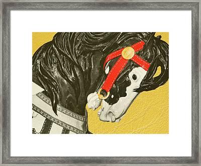 Fiery Stallion Framed Print by JAMART Photography