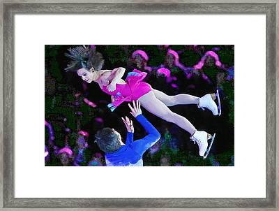 Meagan Duhamel And Eric Radford Framed Print by Don Kuing