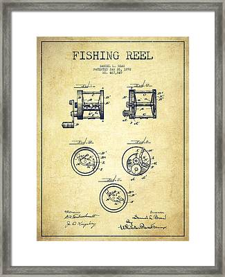 Fishing Reel Patent From 1892 Framed Print